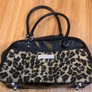 Lux de Ville black and leopard purse